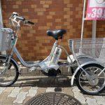 【SOLD OUT】電動自転車 ブリヂストン アシスタ 大人気三輪 8.1Ah 極上バッテリー シルバー