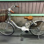 【SOLD OUT】電動自転車 パナソニック  リチウムビビ シルバー 24インチ
