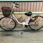 【SOLD OUT】電動自転車 パナソニック VIVI DX 26インチ 8.9Ah タイヤ前後新品 ピンク
