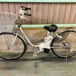 電動自転車 パナソニック VIVI DX 26インチ 3.1Ah バッテリー2個 シルバー