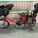 【SOLD OUT】電動自転車 ヤマハ PAS Kiss mini un 20インチ 前後子乗せ 前カバー付き 赤