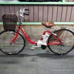 【SOLD OUT】電動自転車 パナソニック VIVI DX 26インチ 6.6Ah 赤色