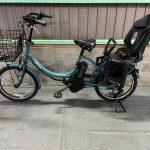 【SOLD OUT】電動自転車 ヤマハ PAS Babby 20インチ 子供乗せ 8.7Ah ブルーグレー 3人乗り適合