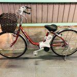 電動自転車 パナソニック VIVI SS 26インチ 3.1Ah バッテリー2個 赤色