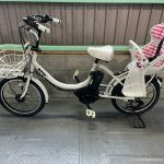 電動自転車 ブリヂストン bikke2 20インチ 子供乗せ 8.7Ah ホワイト