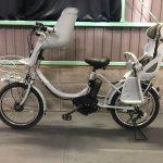【SOLD OUT  Y様】電動自転車 ブリヂストン bikke2 ビッケ 子供乗せ 8.7Ah ブルーグレー 3人乗り適合