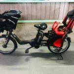 【SOLD OUT】電動自転車  ヤマハ Kiss  mini   キスミニ カーキ 20インチ 子供乗せ 8.1Ah 3人乗り適合