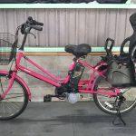 電動自転車 パナソニック LALA5 mini  20インチ 子供乗せ 8Ah チェリーピンク