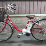 電動自転車 パナソニック リチウム VIVI SS 6.6Ah 赤