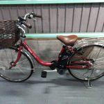 【SOLD OUT】電動自転車 パナソニック リチウムVIVI DX 大容量8.9Ah 赤