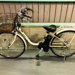 【SOLD OUT】電動自転車 パナソニック デジタル 26インチ アイボリー 大容量8Ah