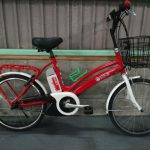 【SOLD OUT】電動自転車 三菱 MIEV 赤 希少!20インチ コンパクトモデル 新基準