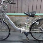 【SOLD OUT】電動自転車 パナソニック アルフィット シルバー 26インチ 車体が軽い!