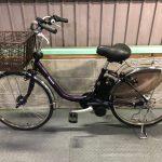 【SOLD OUT】電動自転車 パナソニック VIVI DX 24インチ 大容量8Ah ダークパープル