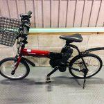【SOLD OUT】電動自転車 パナソニック オフタイム 18×20 インチ 5Ah 赤黒