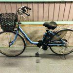 【SOLD OUT】電動自転車 パナソニック VIVI DX 26インチ 8Ah タイヤ前後新品 ブルー