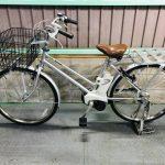 【SOLD OUT】電動自転車 パナソニック ビジネスVIVI   26インチ シルバー 大容量バッテリー13.2Ah