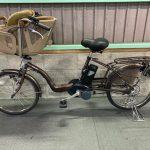 電動自転車 パナソニック ギュットミニ 20インチ 6Ah 3人乗り適合 子供乗せ ブラウン