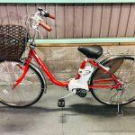 電動自転車 パナソニック VIVI  26インチ 3.1Ah   赤