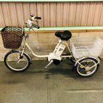 【稲美倉庫】電動自転車 パナソニック かろやかライフ 3輪 三輪 デジタル シャンパンゴールド