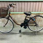 【SOLD OUT】【6Ahに変更】電動自転車 パナソニック ビビ ブラウン 6Ah 26インチ 美品
