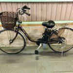 電動自転車 パナソニック ビビ デジタル 26インチ ブラウン 6Ah 良品バッテリー