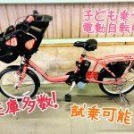 子供乗せ電動自転車ぞくぞく入荷中♪パート2